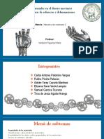 Mecánica de materiales (materiales gomas)