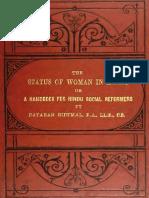 The Status of Women in India Dayaram Gidumal