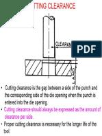 Cutting Clearance
