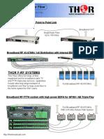 THOR_F-RF Broadband CATV Fiber Optic Distribusion Solusion