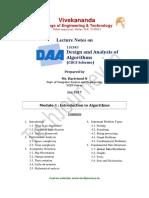 DAA Notes Module 1
