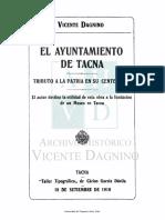 Dagnino, V., Ayuntamiento de Tacna 1910.