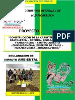 MEMORIA DESCRIPTIVA DE INPACTO AMBIENTAL PARA CARRETERAS
