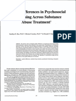 Gender Differences in Psychosocial Functioning Across Substance Abuse Treatment