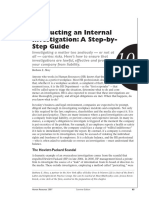 Conducting an Internal Investigation, A Step b Step Approach