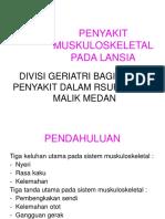 K - 26 Penyakit Muskuloskeletal Pada LANSIA (Ilmu Penyakit Dalam)