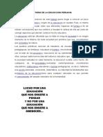 Historia de La Educacion Peruana