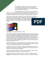 La Primera Versión de Microsoft Windows