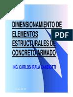 Dimensionamiento de Elementos Estructurales -ing Carlos Irala