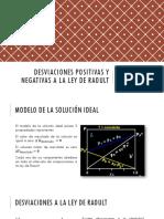 Desviaciones + y - a la Ley de Raoult C4