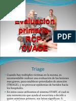 Evaluacion Primaria, Secundaria y Rcp