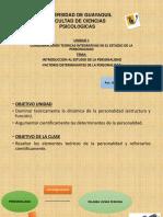 Diapositivas 1 Introduccion Al Estudio de La Personalidad