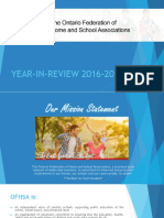 OFHSA Year in Review 2016 2017