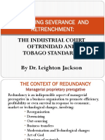EMPLOYMENT LAW - Managing Severance and Retrenchment by Good Industrial Relations Practice by Dr. Leighton Jackson