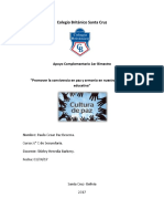 Informe Cultura de Paz