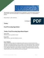 Food Processing Ingredients Ankara Turkey 5-26-2017