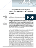 Increasing Mechanical Strength of Gelatin Hydrogels by Divalent Metal Ion Removal