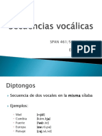 Secuencias vocálicas