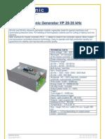 Ultrasonic Generator VP 20-35 kHz