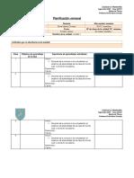 Formato de Planificación Semanal