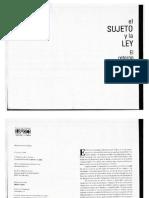 Franz J Hinkelammert - El Sujeto y La Ley - El Retorno Del Sujeto Reprimido