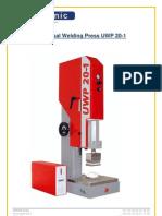 Ultrasonic Welding Press UWP 20-1