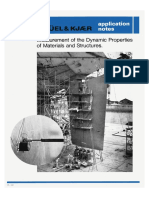 Measurement of the Dynamic Properties of Materials and Structures.
