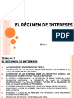 Régimen de Intereses, (BCR, Etc.)