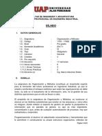 Sillabus Organización y Métodos 2017 I