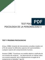 Presentacion Test Psicologicos de Personalidad