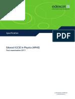 Physics (4PH0) Specification