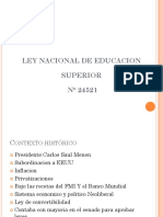 Ley de Educacion Superior ARGENTINA 24521