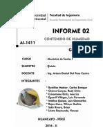 Informe 02 - Contenido de Humedad