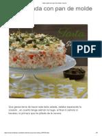 Tarta Salada Con Pan de Molde _ Cocina