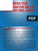 2.- Aspectos Biológicos de La Calidad Del Agua
