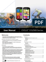 Magellan Cyclo 315/505 User's Manual