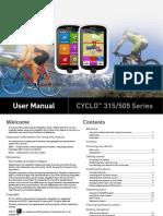 Magellan Cyclo 315/505 User's Manual
