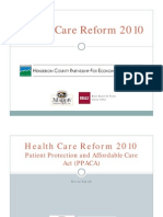 HCPED Health Care Reform Presentation 08.03.2010