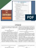 El Criterio (Jaime Balmes - Capítulos II, Xiii, Xiv y Xv)