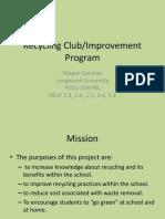 recycling presentation pbl