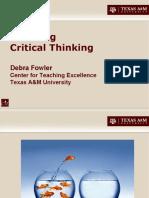 Enseñando pensamiento critico