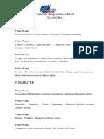 Filosofia - Contedo Programtico Anual