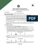 7242-Model Question Paper - Madras School of Social Work