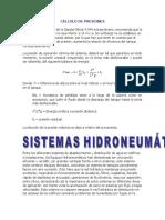 Cálculo de Presiones de Hidroneumatico