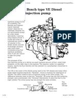 Bosch VE Pump Discription