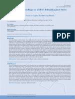 O Fator de Risco Lucro_Preço Em Modelos de Precificação de Ativos