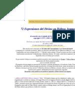 72 Expresiones Del Divino en Hebreo Arameo
