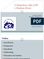 Small Vessel Detection with UHF Radar in the Hudson River 072910