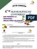 Plan de Comisión de Matemáticas Cotorras