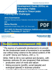 Jerry Courvisanos Plenary address 2017 'Finding Pathways to Acheive the Sustainable Development Goals'